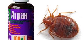 Yatak böceklerinin yok edilmesi için Agran'ın kullanımı