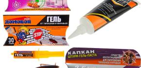 Hamamböceklerinden ve nüanslarından elde edilen jeller (Brownie, Trap, Killer, vb.)